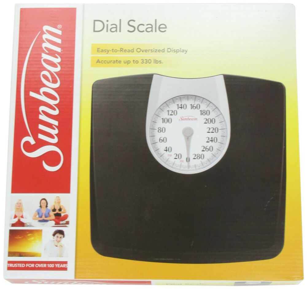 Sunbeam Full View Accurate Bathroom Dial Analog Weight