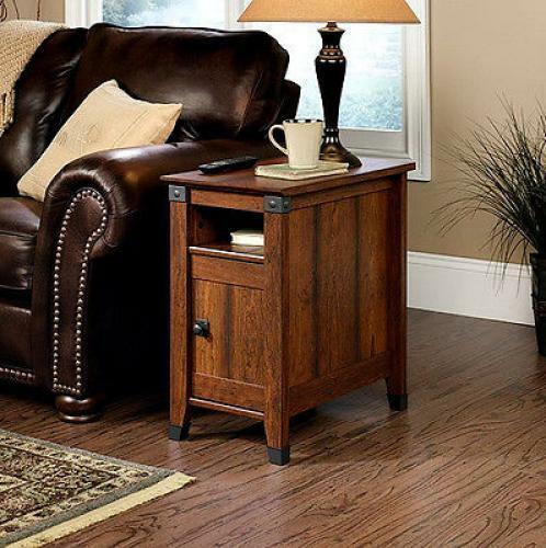 Side table drawer living room furniture wood shelf storage for Furniture of america architectural inspired dark espresso coffee table