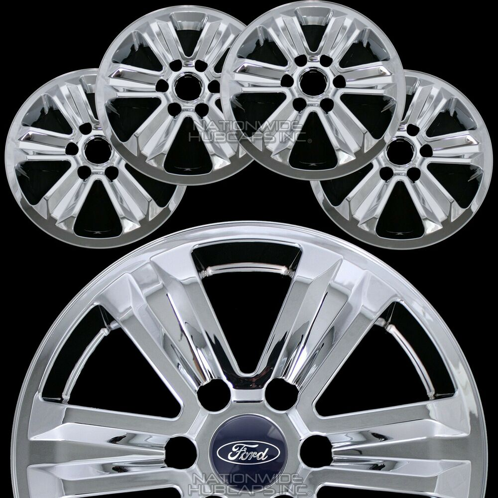 "2015 Ford Fusion Rims >> 4 CHROME 2015-2018 Ford F150 XLT 17"" Alloy Wheel Skins Full Rim Covers Hub Caps 