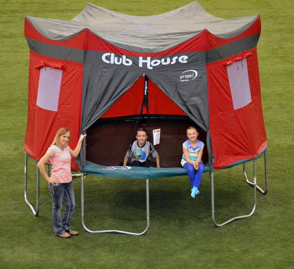 NEW Trampoline Clubhouse Tent Cover Fun Playhouse Rain