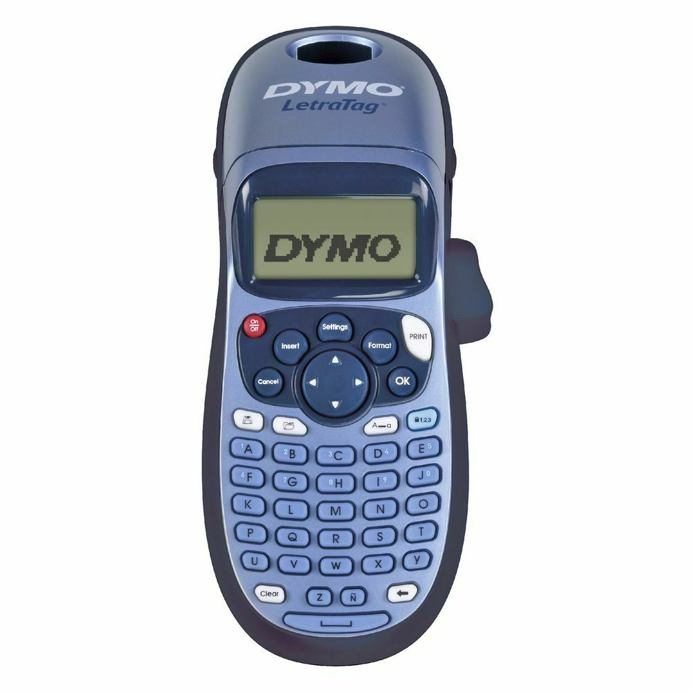 Dymo letratag 100h handheld label maker blue ebay for Dymo label stickers