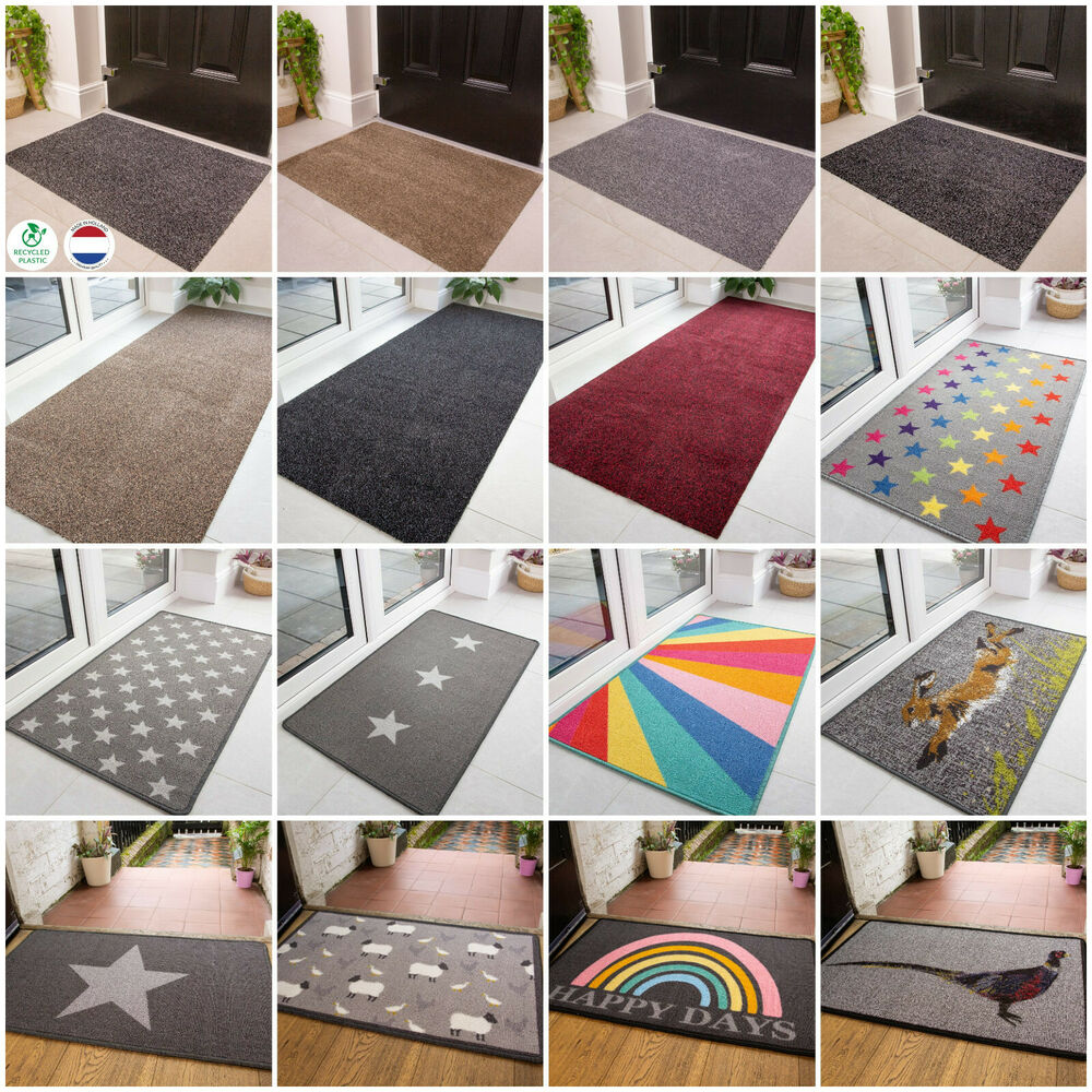 Non Slip Dirt Catcher Mats Rubber Back Entrance Mats