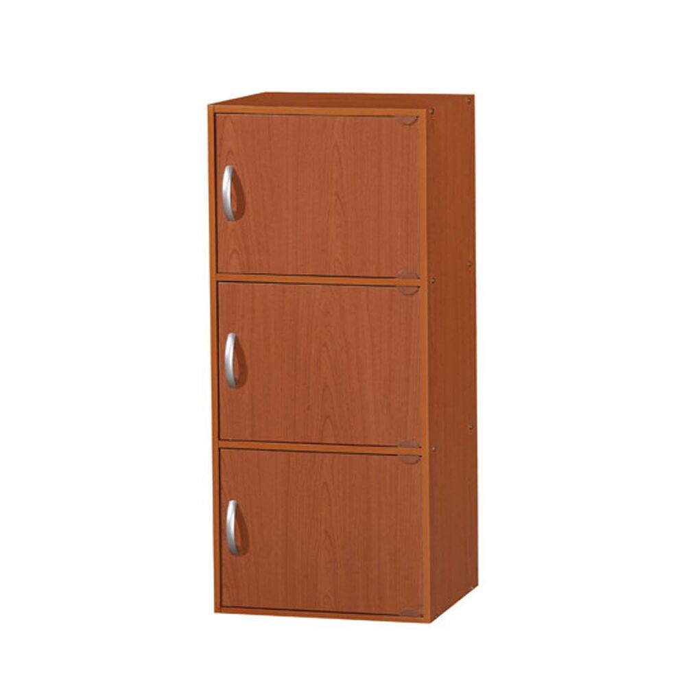 Kitchen Pantry Storage Cabinet Wood 3 Doors Wooden Organizer Home Furniture New Ebay