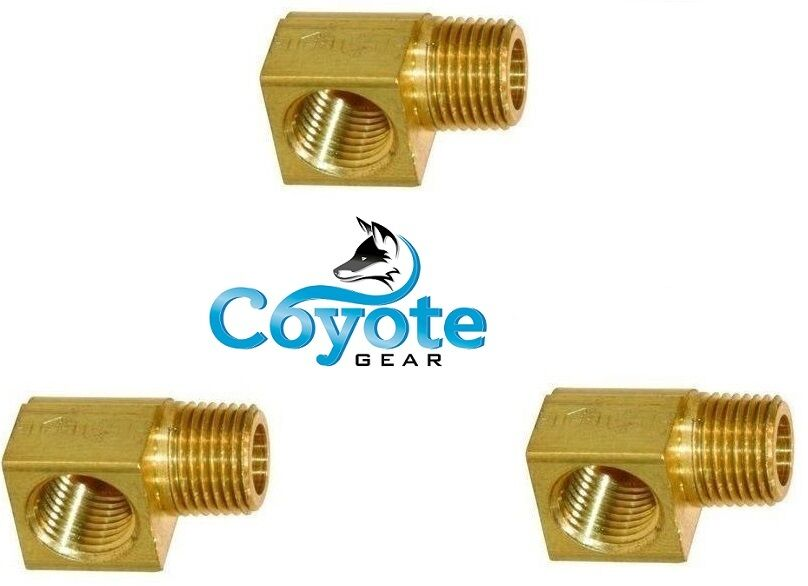 Pack of quot street degree elbow brass pipe fitting