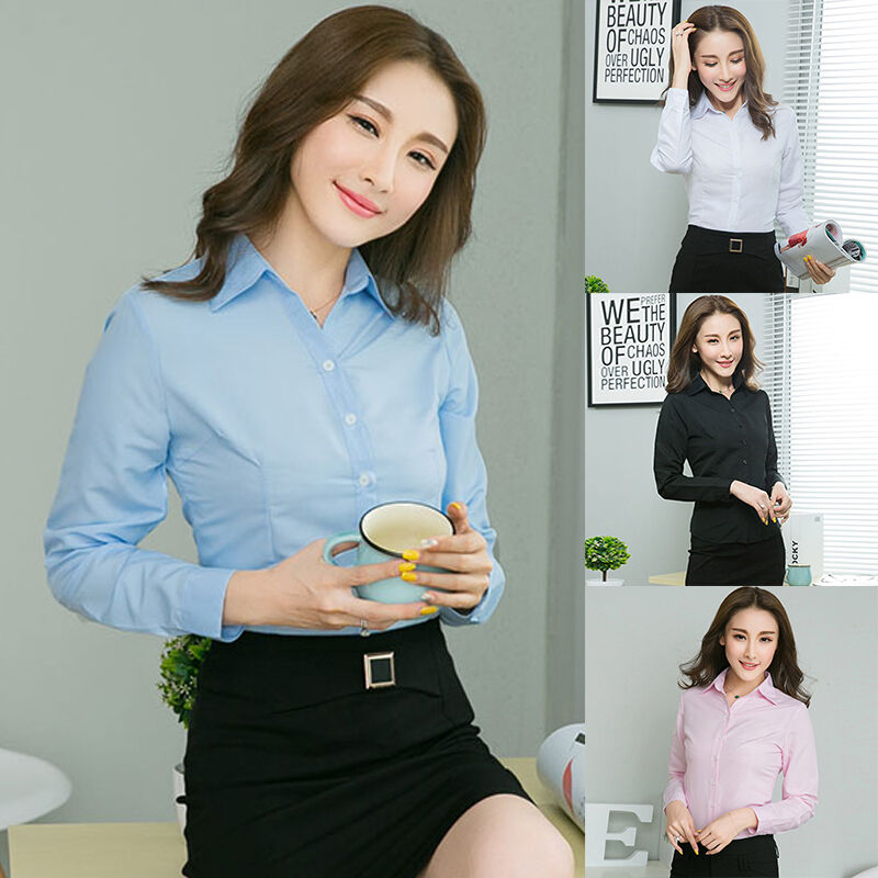 New Formal Women Classic Shirts Blouses Ladies Office
