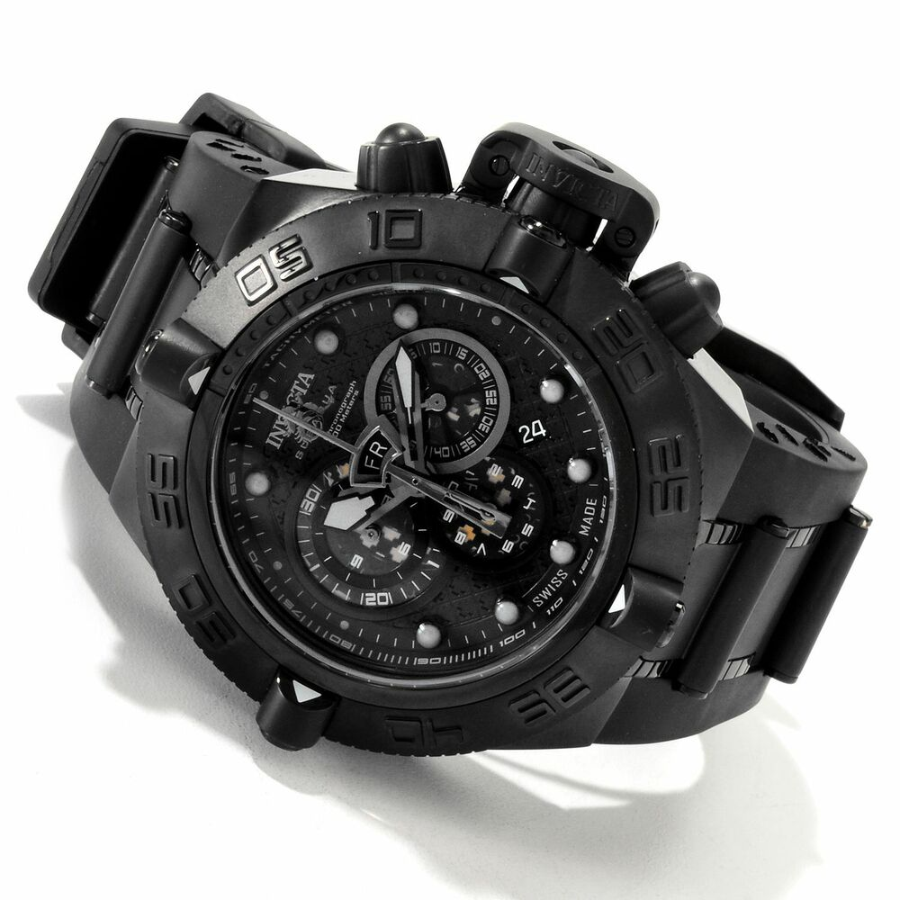 6582 invicta 50mm men 39 s subaqua noma iv combat swiss chronograph blk strap watch 843836065825 ebay for Bulltoro watches