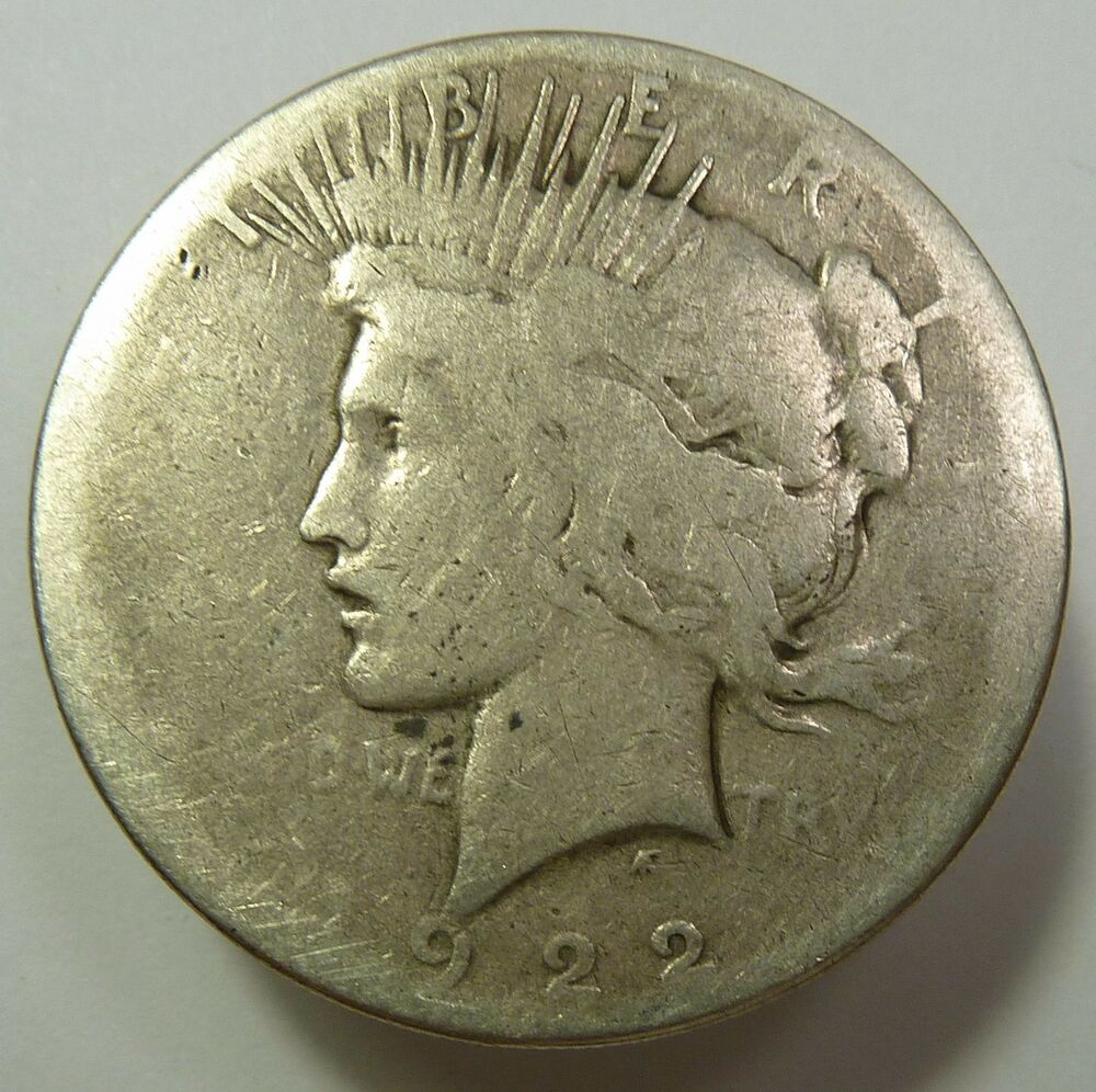 1922 S Lowball Silver Liberty Peace Dollar 1 Us Coin Item