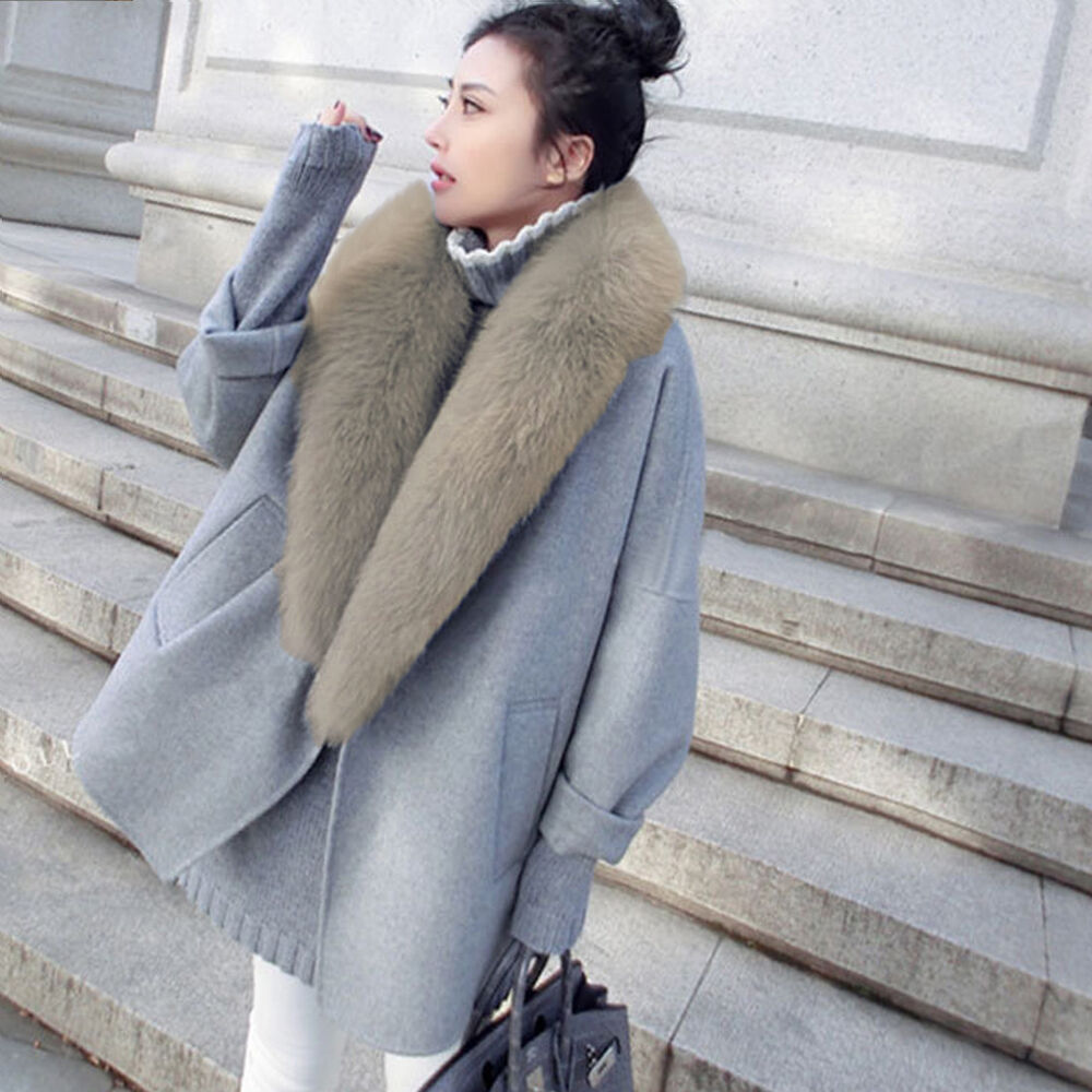 Ladies Fashion Loose Overcoat Winter Womens Coat Long ...