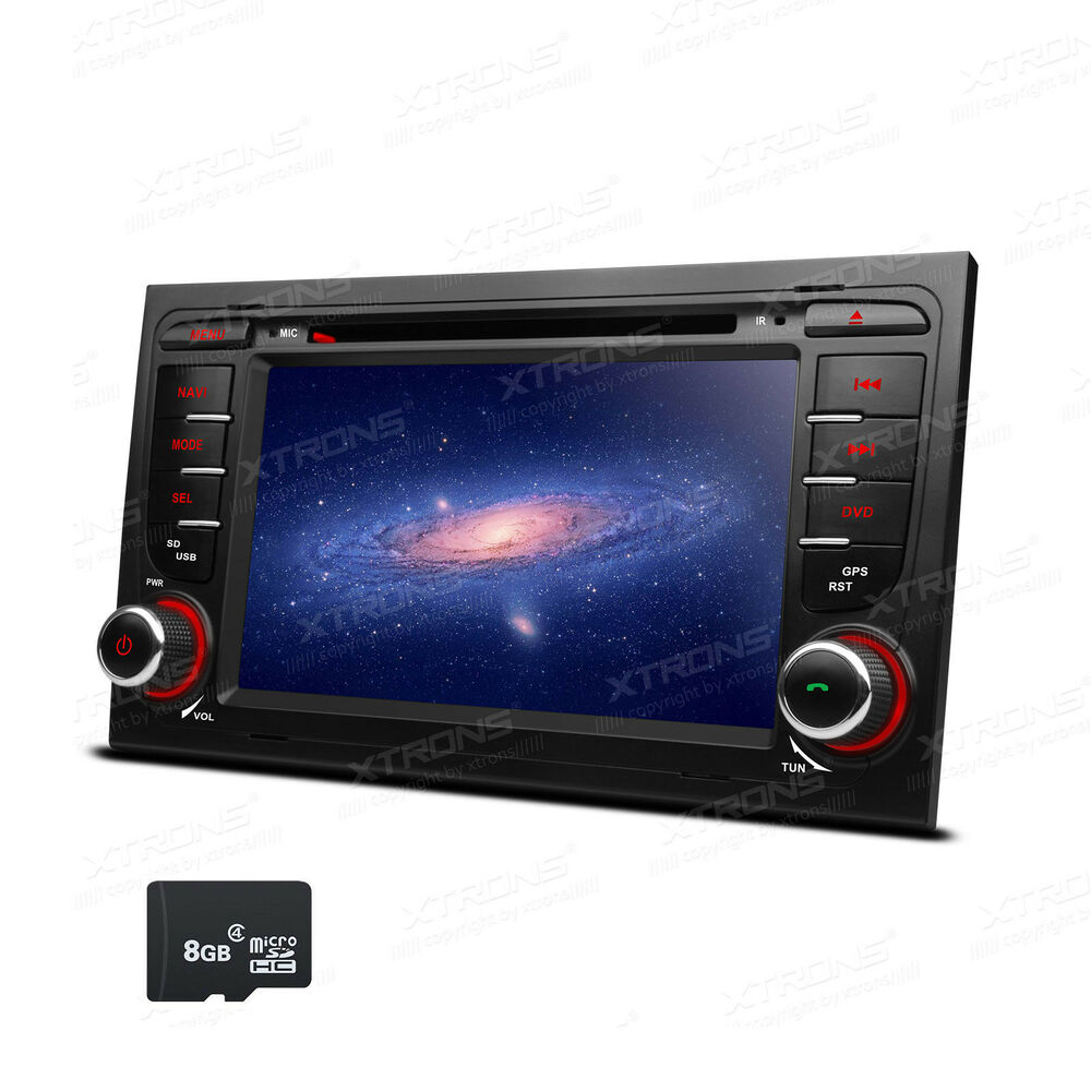 7 touch screen gps navigation car stereo dvd radio player bt for audi a4 s4 rs4 ebay. Black Bedroom Furniture Sets. Home Design Ideas