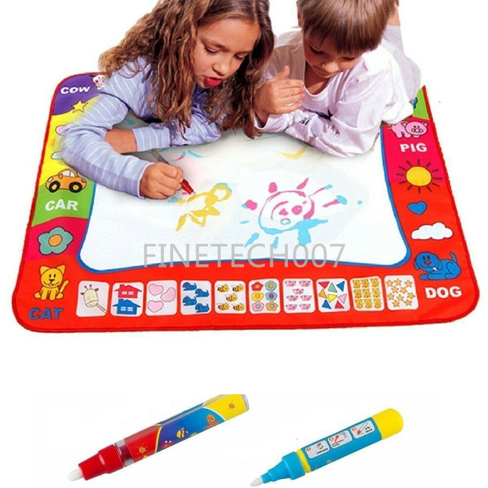 80x60cm Water Drawing Toy Painting Writing Mat Board 2 Magic Pens Doodle Mat Fs Ebay