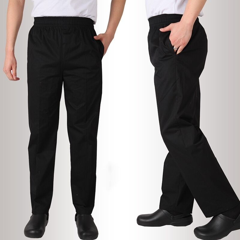 New Men Work Pants Black Hotel Chef Cook Waiter Service
