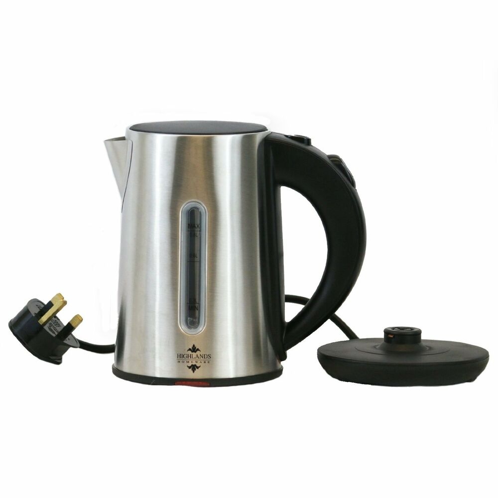Highlands 0 8l Cordless Stainless Steel Electric Kettle 8 Litre 1000w Fast Boil Ebay