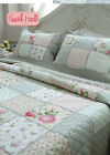 Country Rose Patchwork Bedspread Quilt 3pc Set Queen+ Ling's Gift