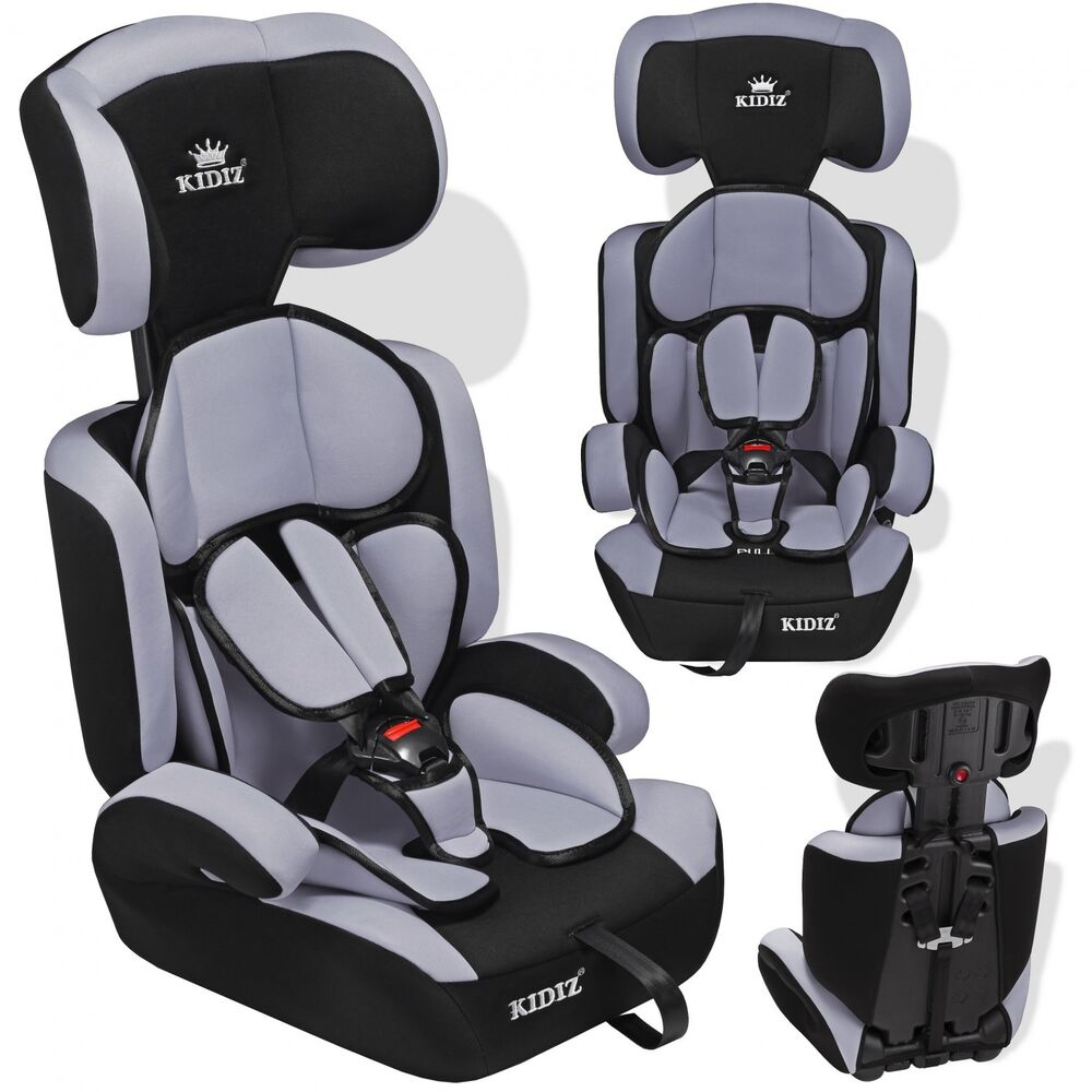 kidiz si ge auto enfants si ge auto avec extra coussin 9 36 kg groupe 1 2 3 gra ebay. Black Bedroom Furniture Sets. Home Design Ideas