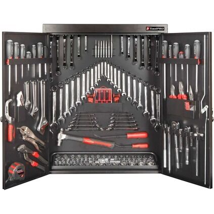 toolpro tool kit wall cabinet 200 piece ebay. Black Bedroom Furniture Sets. Home Design Ideas