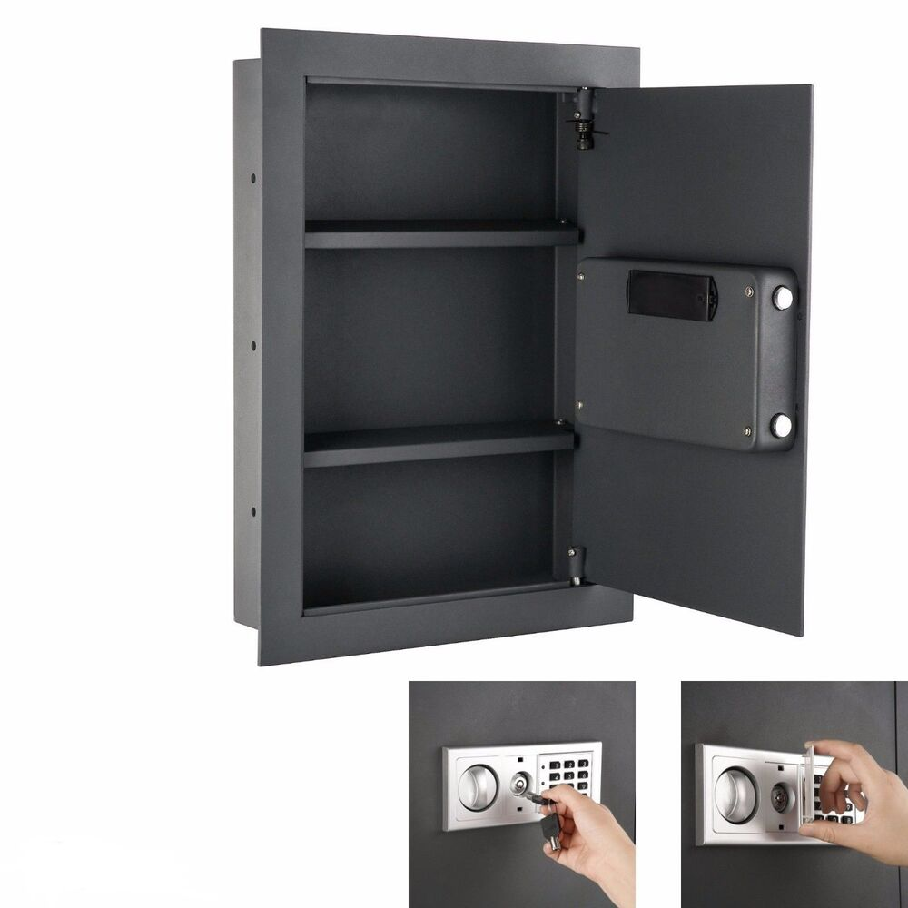 Hidden Wall Safe Home Gun Cash Jewelry Security Lock