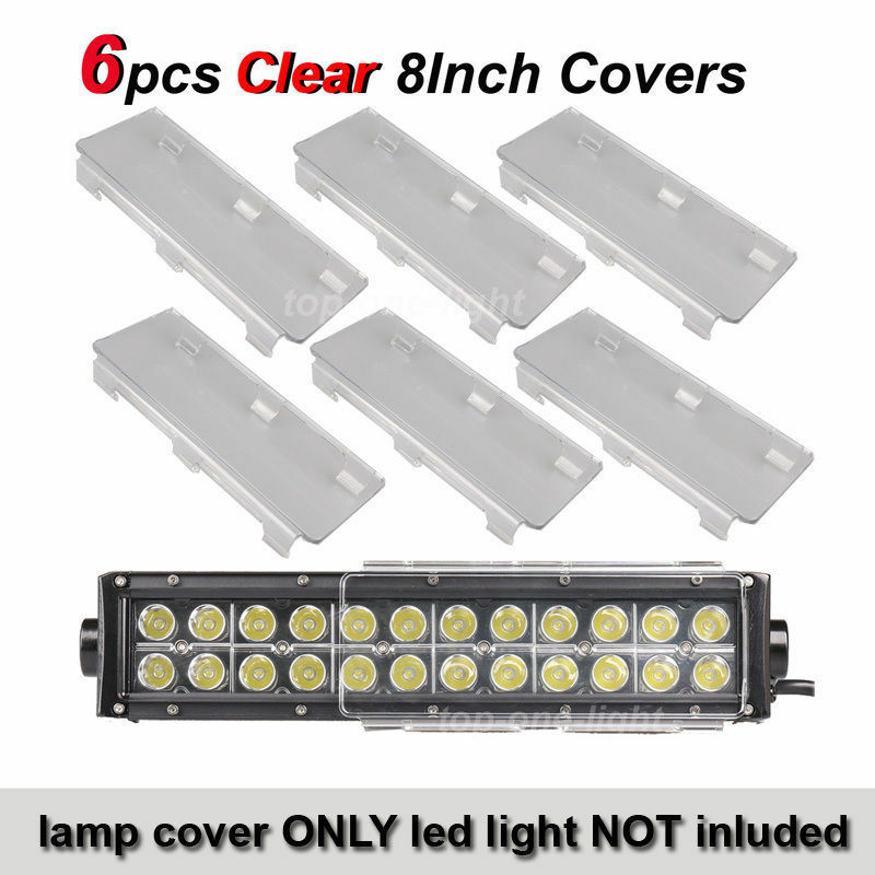 6x 8 Quot Inch Clear Cover Lens For Off Road Led Light Bar 8
