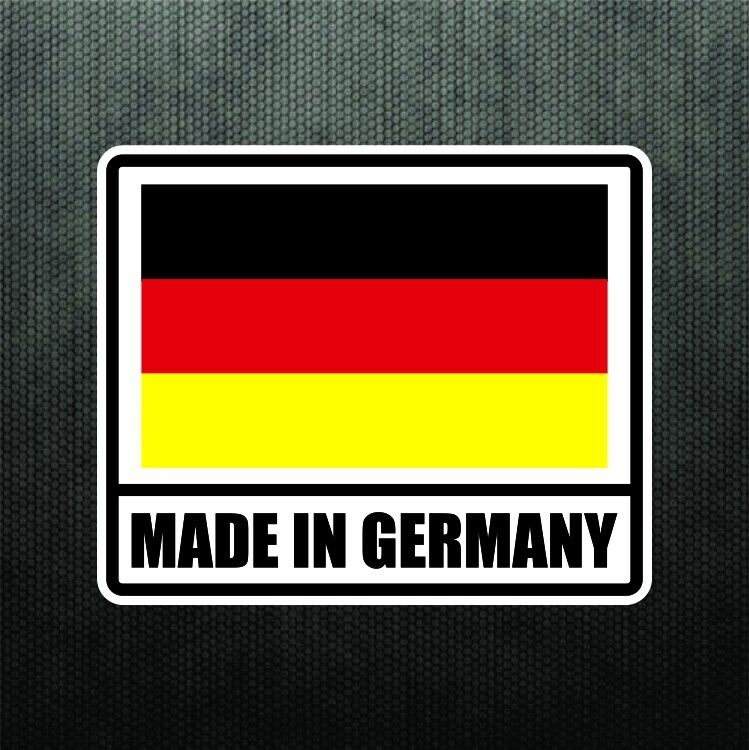 Made in germany vinyl bumper sticker decal german sport for Mercedes benz made in germany