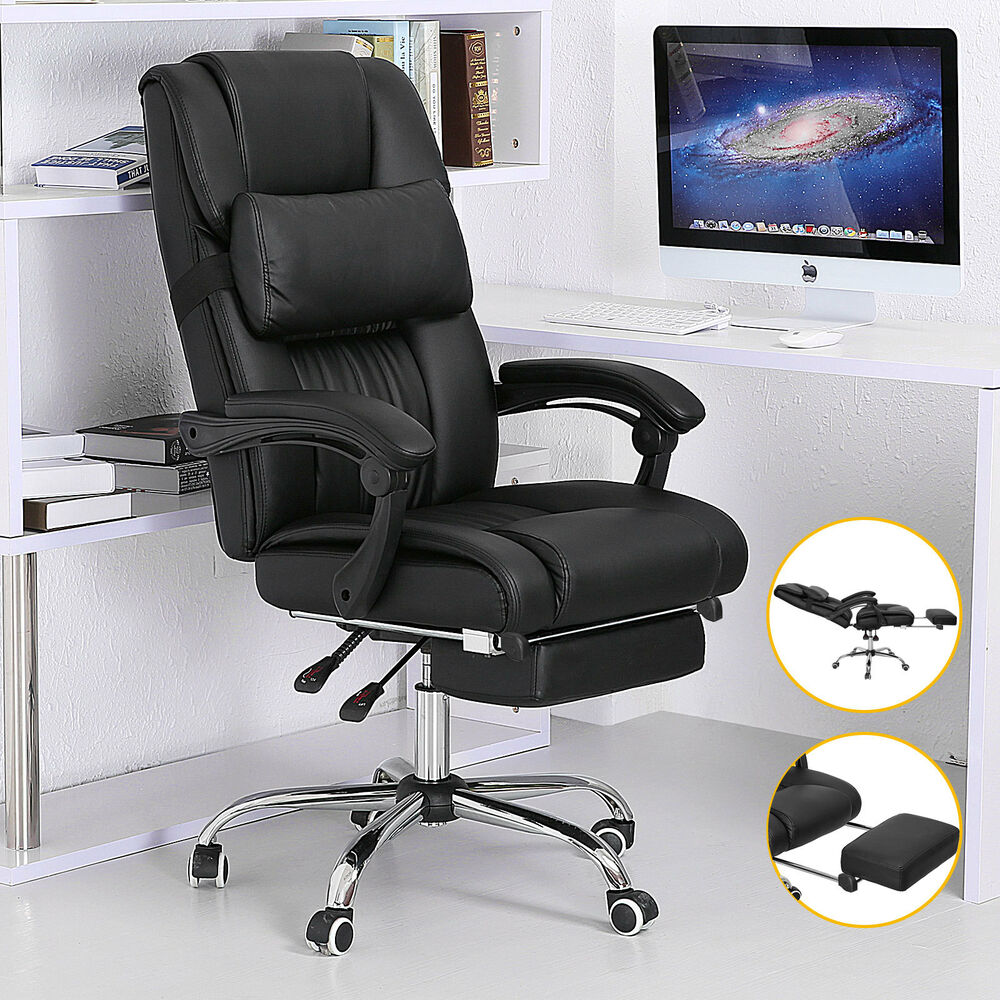 executive office chair ergonomic high back reclining. Black Bedroom Furniture Sets. Home Design Ideas