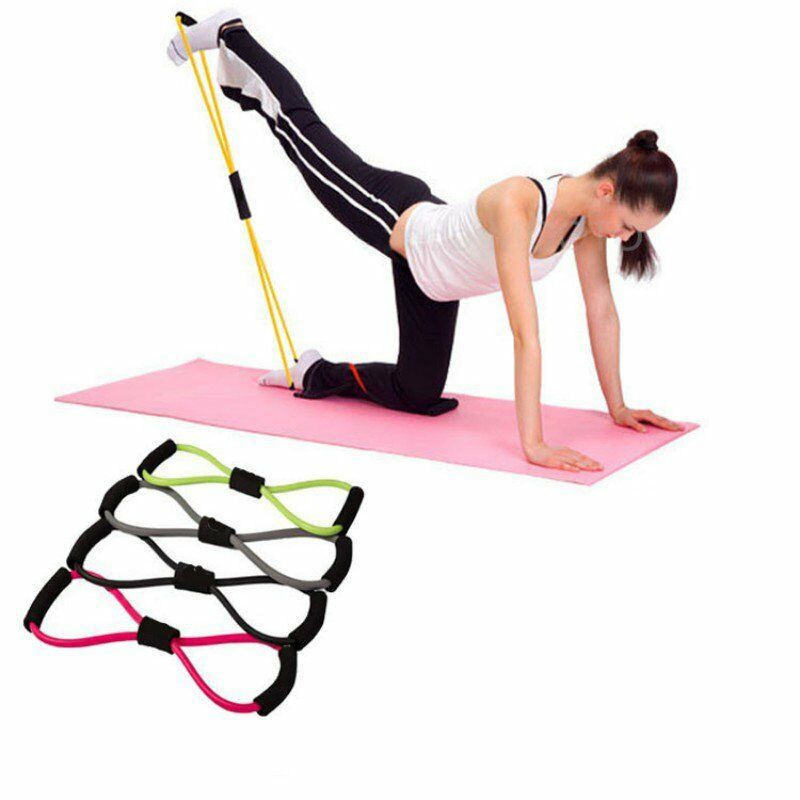 Workout Bands Com: Yoga Resistance Band Stretch Loop Fitness Gym Workout