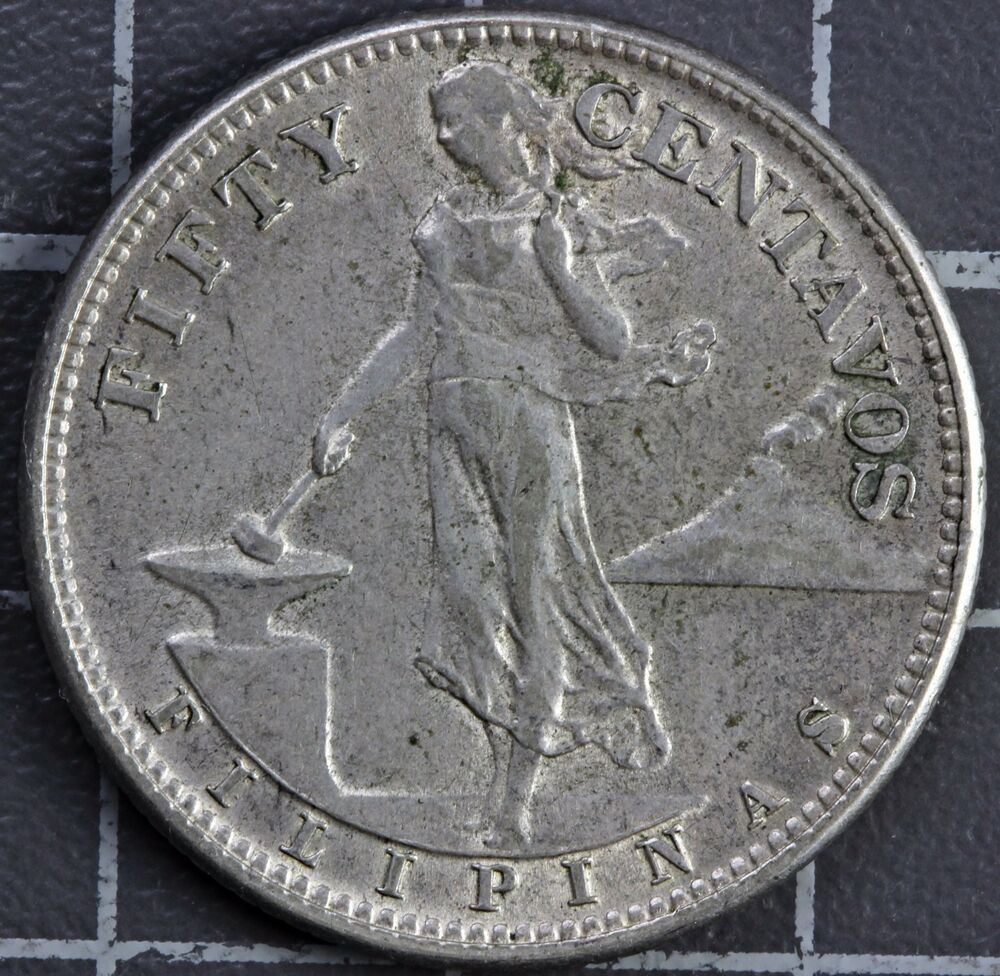 Coin Ph: 1944 FILIPINAS/PHILIPPINES 50 CENTAVOS SILVER COIN