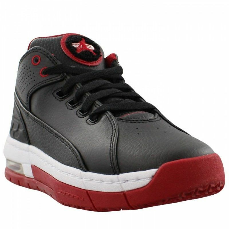 65bc17d5075d Details about 845204-006 Nike Air Jordan Ol  School Low (BG) Black Gym  Red White Sizes 4-7 NIB