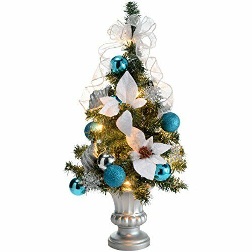 Cheap Christmas Trees Uk: WeRChristmas 2 Ft Pre-Lit Decorated Christmas Tree Table