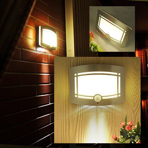 Light For House: Exterior Motion 10 LED Light Indoor Sensor Night Outdoor