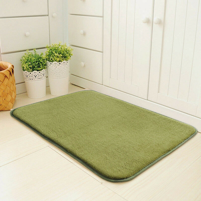 New doormats solid color door mats rectangle indoor for Indoor front door mats