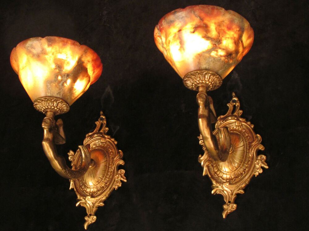 Wall Lights American Fixture Mermaid Sculptures Art Deco