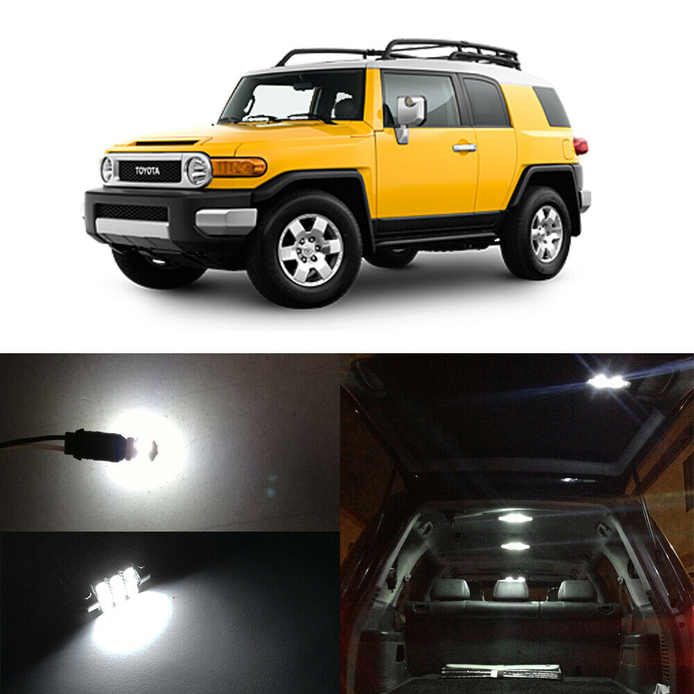 8 X Xenon White Smd Led Interior Bulbs License Plate Lights For Fj Cruiser Trd Ebay
