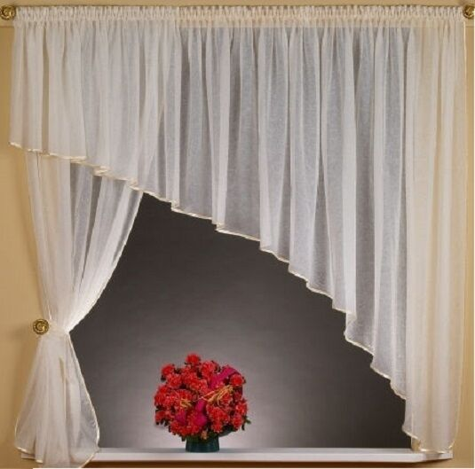 White modern voile net curtain all sizes available ebay - White Ecru Crushed Voile For You Amazing Modern Net