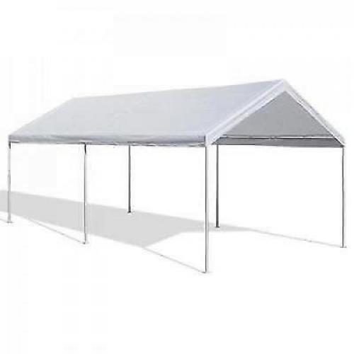 Metal Car Shelter 10x20 : Portable carport garage kit tent steel metal