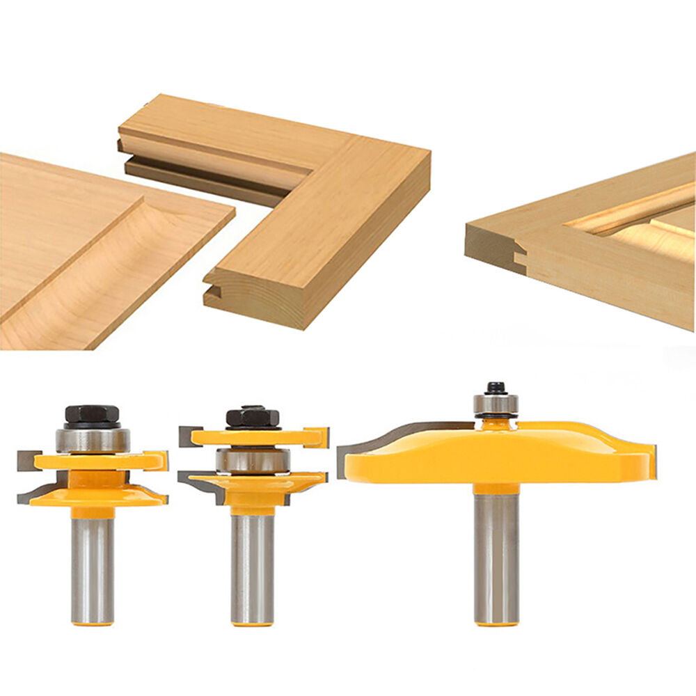 3 Pc Rail Amp Stile And Panel Raiser Router Bit Set 1 2