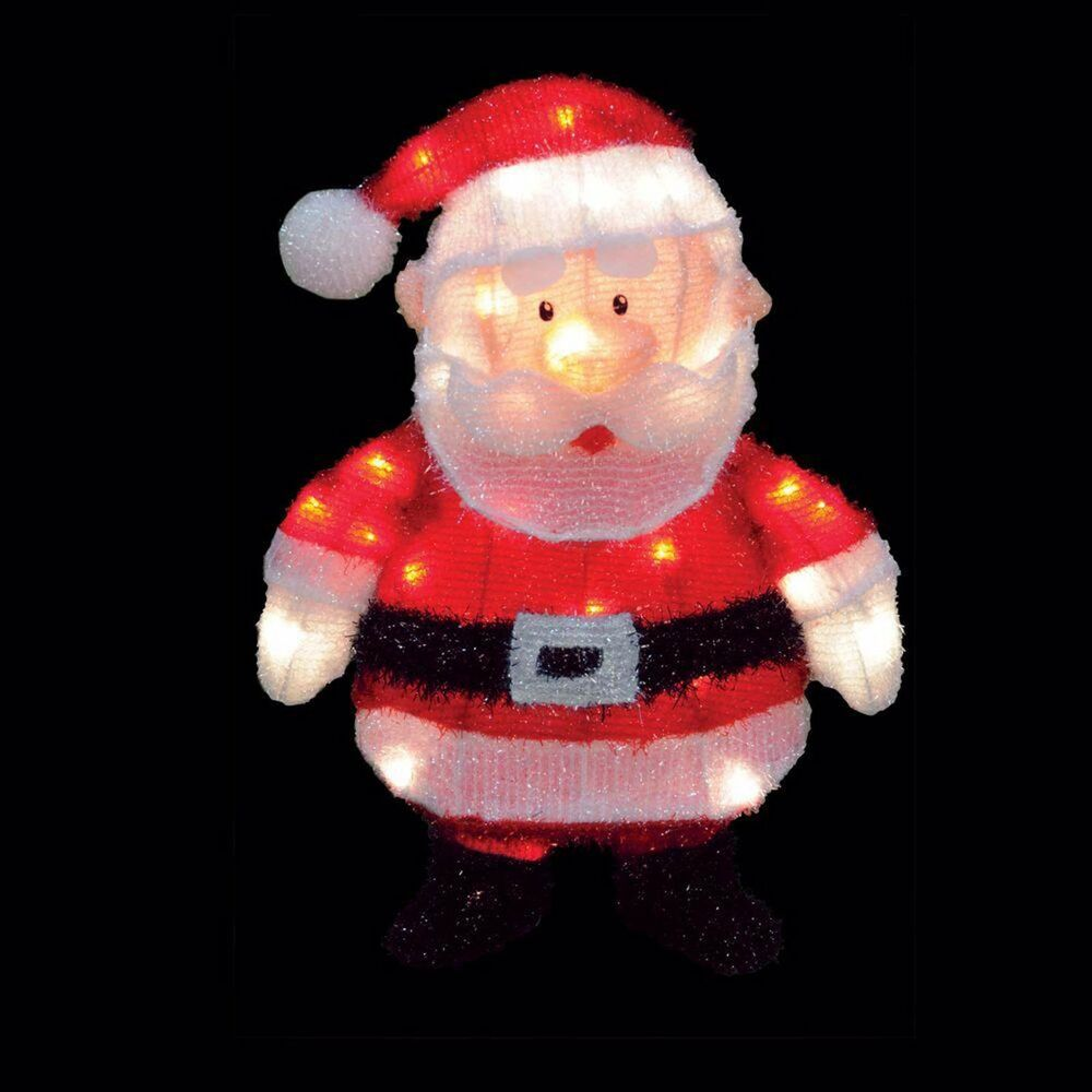 Santa Claus Lawn Decorations: Home Outdoor Christmas Holiday Yard Decorative LED Lighted