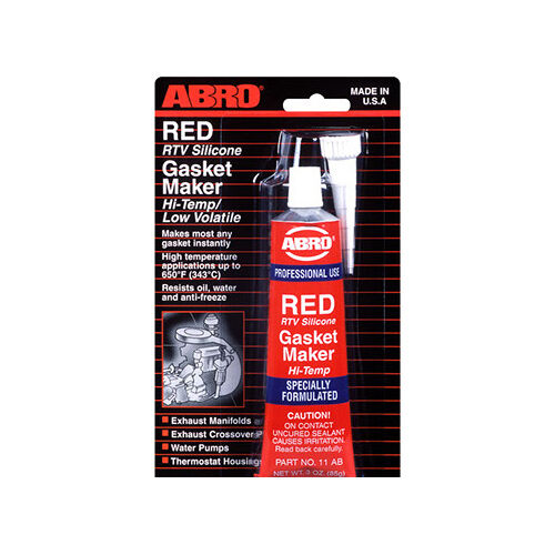 High Temp Sealant >> Abro RED RTV Silicone Instant Gasket Maker Sealant Adhesive Oil Water Proof 790920128914 | eBay