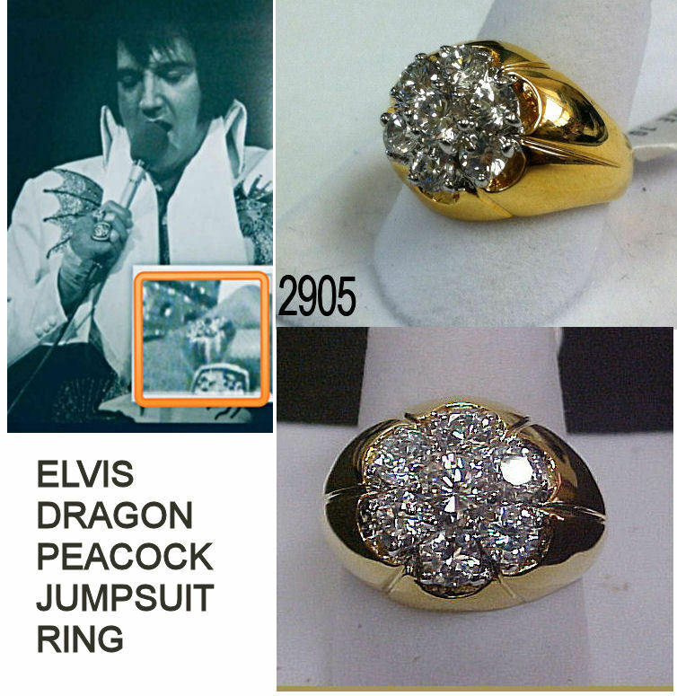 Elvis Ring Dragon And Peacock Jumpsuit Middle Finger Cz
