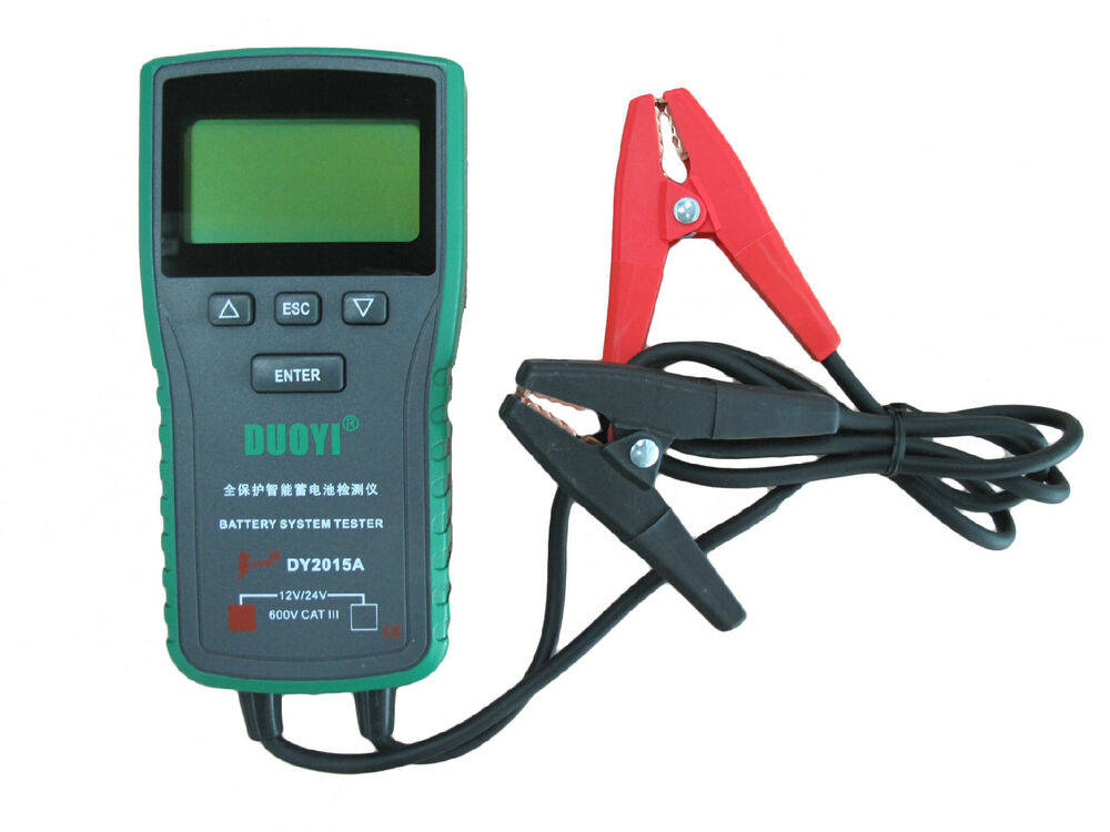 Electronic Battery Tester : Digital automotive vehicle car battery tester v
