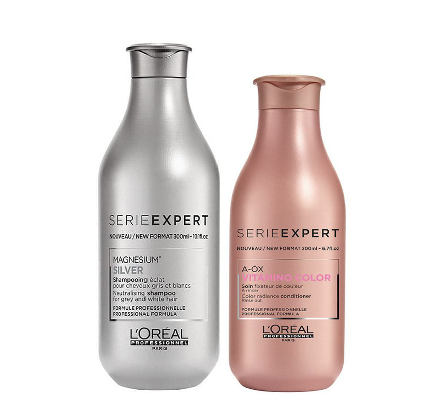 Loreal Silver Blonde Shampoo 300ml And Vitamino Color Aox