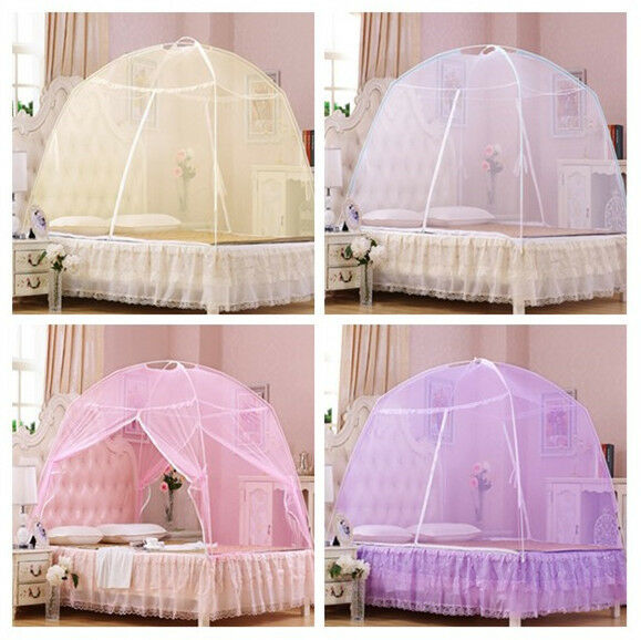 Lace Bed Canopy Insect Mosquito Net Netting Tent For Twin