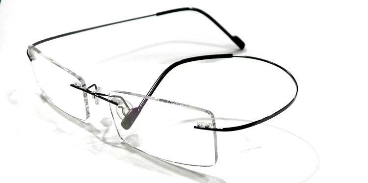 Rimless Transition Glasses : Black Rimless Light weight Rx Transitions (photochromic ...
