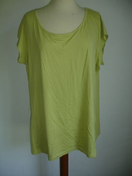 T-Shirt Capsleeve Donna TAGLIE FORTI di TWISTER TGL 46/48 (2) Limone NUOVO