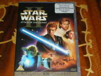 STAR WARS UK PRINT ATTACK OF CLONES WIDESCREEN SEALED 2-DVD W/ STICKER DELETED