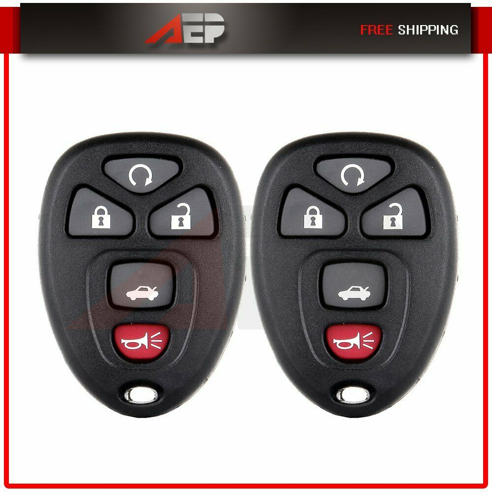 2 New Replacement Keyless Entry Remote Car Key Fob Shell