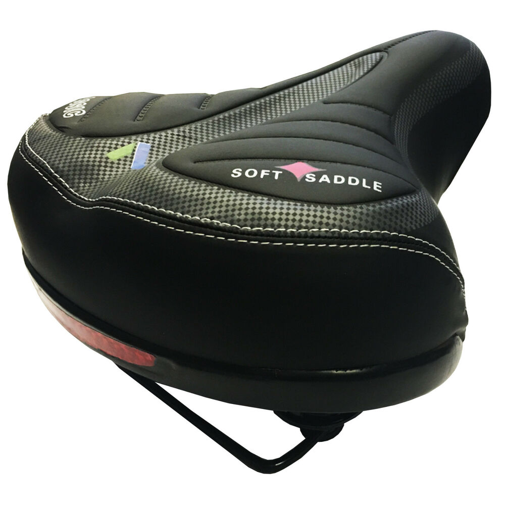 Extra Bike Seat : Wide extra comfy bike bicycle gel cruiser comfort sporty