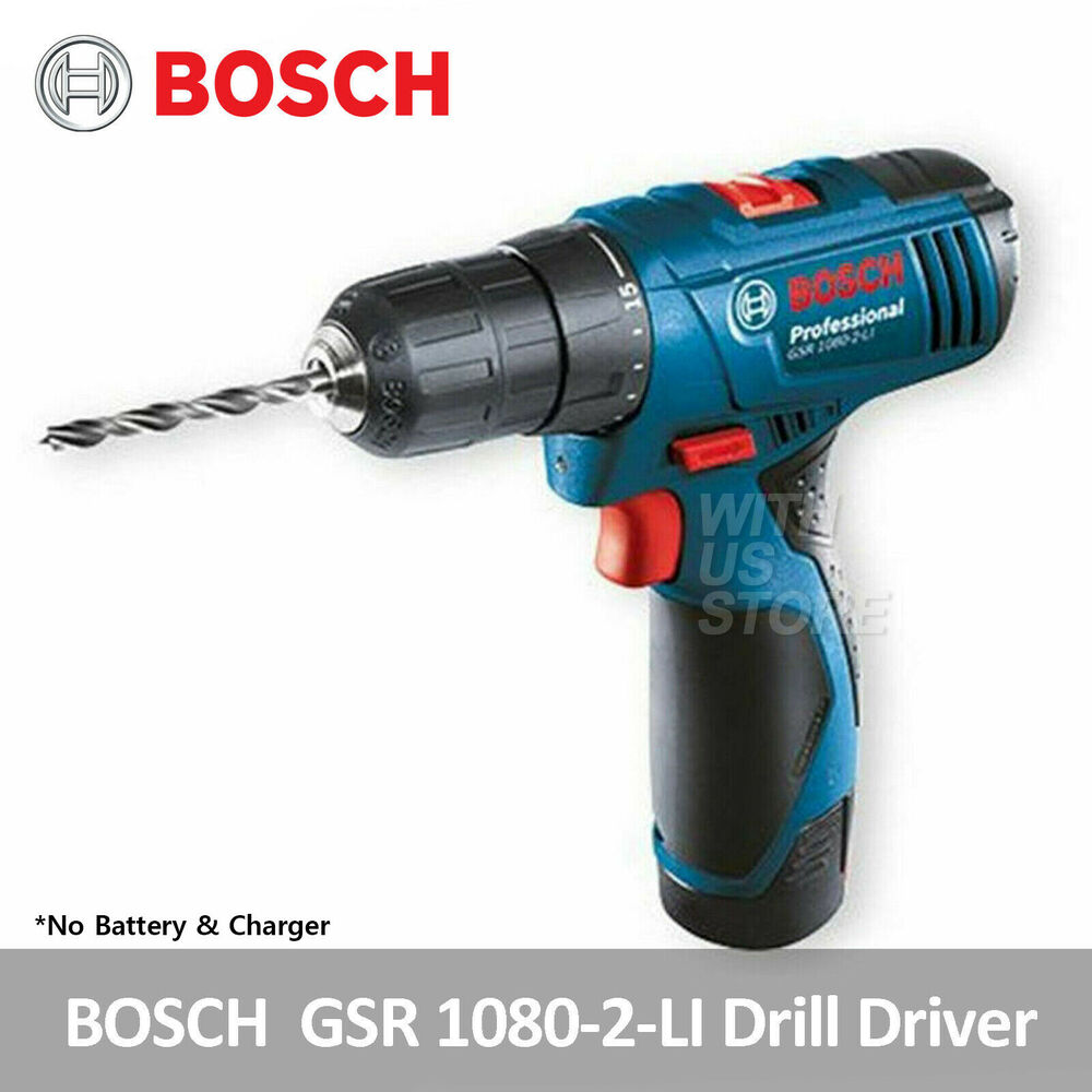 bosch gsr 1080 2 li professional cordless drill driver body only bare tool ebay. Black Bedroom Furniture Sets. Home Design Ideas