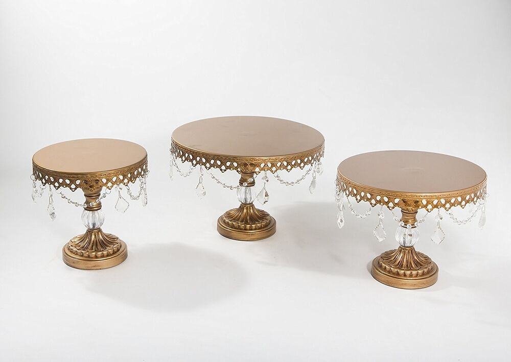 Chandelier Cake Stand Gold