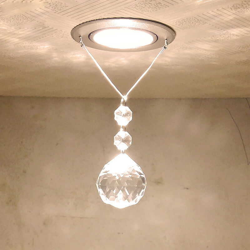 Led Ceiling Lights Fixtures: New Modern Crystal LED Ceiling Light Pendant Lamp Fixture