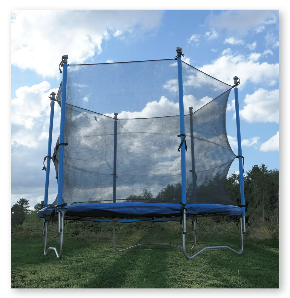 8FT TRAMPOLINE WITH FREE SAFETY NET ENCLOSURE GARDEN KIDS