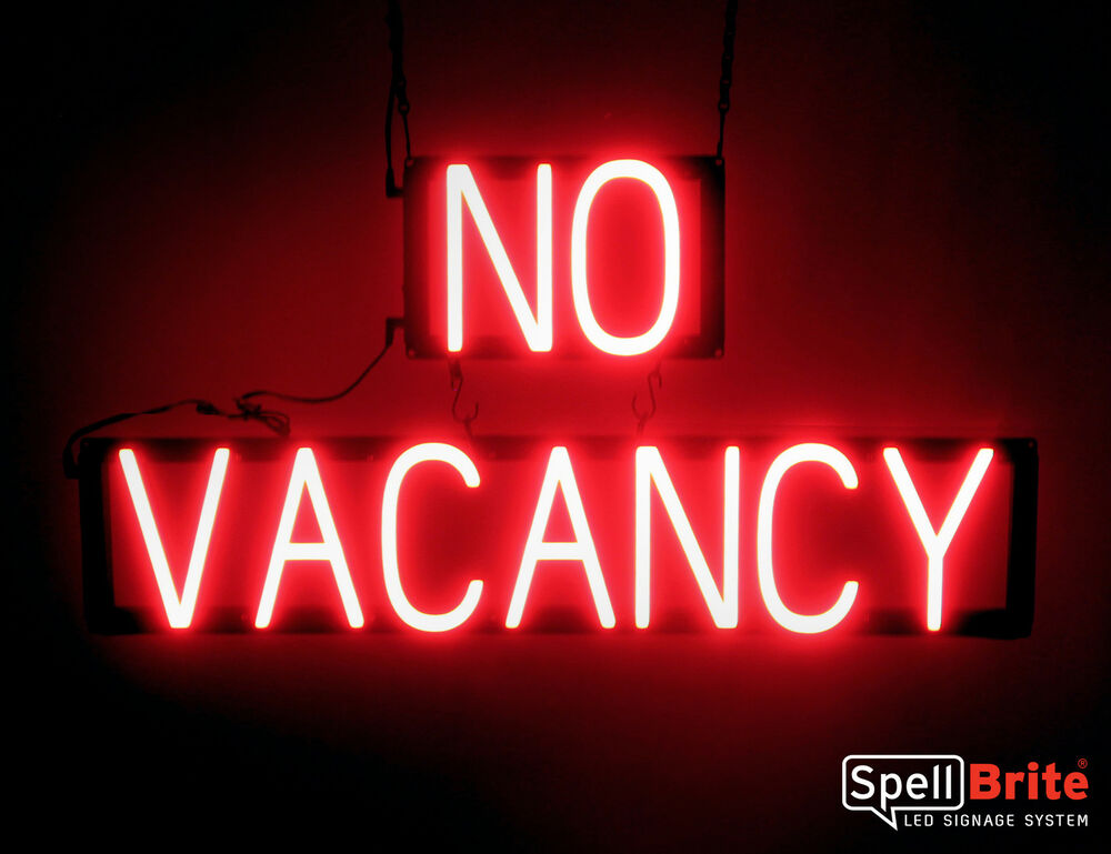 Spellbrite Ultra Bright No Vacancy Sign Neon Led Sign